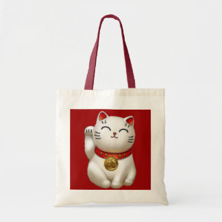Gato afortunado bolsa tela barata