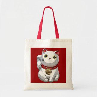Gato afortunado bolsa de mano