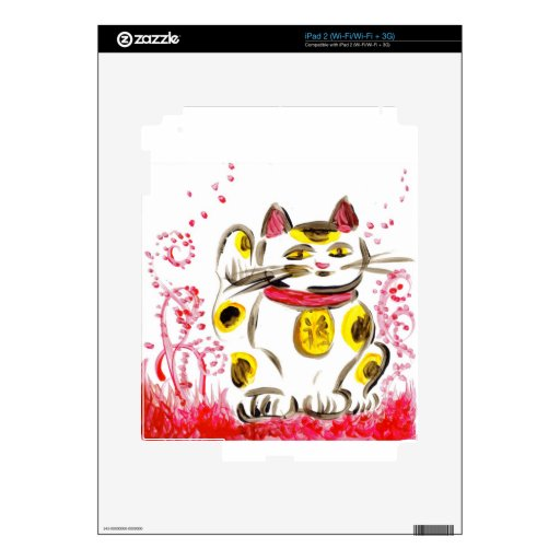 Gato afortunado calcomanía para el iPad 2