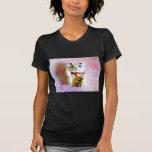 Gato afortunado camiseta