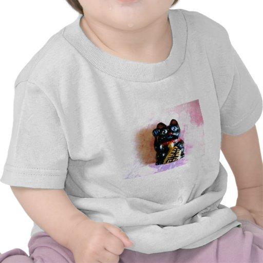 Gato afortunado camisetas