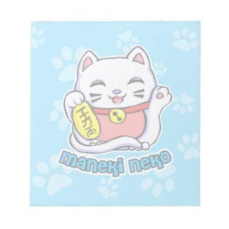 Gato afortunado de Maneki Neko Bloc De Notas