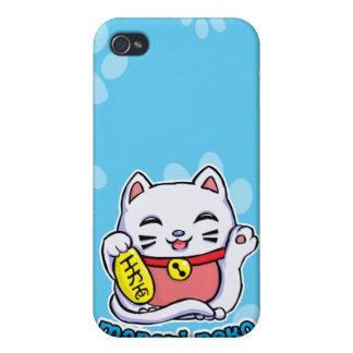 Gato afortunado de Maneki Neko iPhone 4/4S Funda