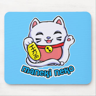 Gato afortunado de Maneki Neko Tapete De Ratones