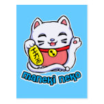 Gato afortunado de Maneki Neko Tarjetas Postales
