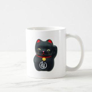 """Gato afortunado del gato de Maneki Neko """"tentando"""" Taza"""