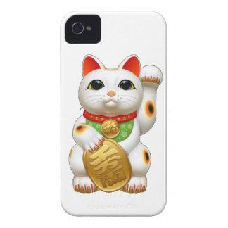 gato afortunado del maneki-neko carcasa para iPhone 4 de Case-Mate