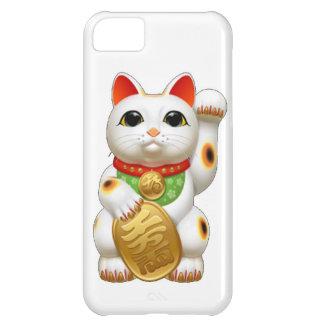 gato afortunado del maneki-neko carcasa para iPhone 5C