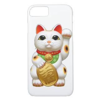 gato afortunado del maneki-neko funda iPhone 7