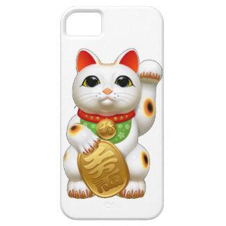gato afortunado del maneki-neko funda para iPhone SE/5/5s