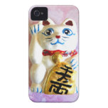 Gato afortunado iPhone 4 Case-Mate carcasa