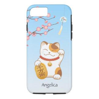 Gato afortunado japonés, calicó Maneki Neko Funda iPhone 7