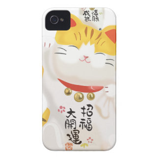Gato afortunado japonés iPhone 4 carcasas