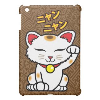 Gato afortunado japonés Maneki Neko (Brown)