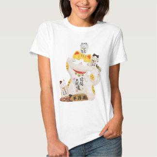 Gato afortunado japonés polera