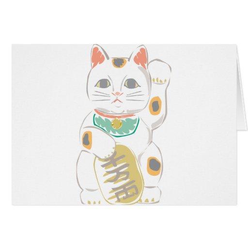 Gato afortunado japonés tarjetón