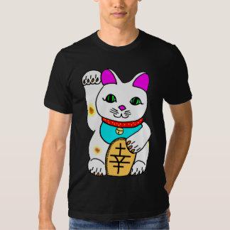 Gato afortunado Maneki Neko del delirio de Kawaii Remera