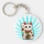 Gato afortunado (Maneki-neko) Llaveros Personalizados