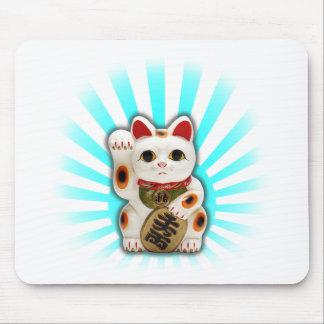 Gato afortunado (Maneki-neko) Alfombrillas De Raton