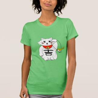 Gato afortunado Maneki Neko - tentando… con el Camisetas