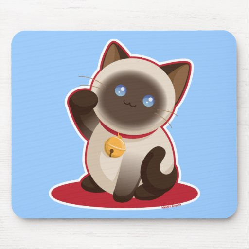 Gato afortunado mousepad