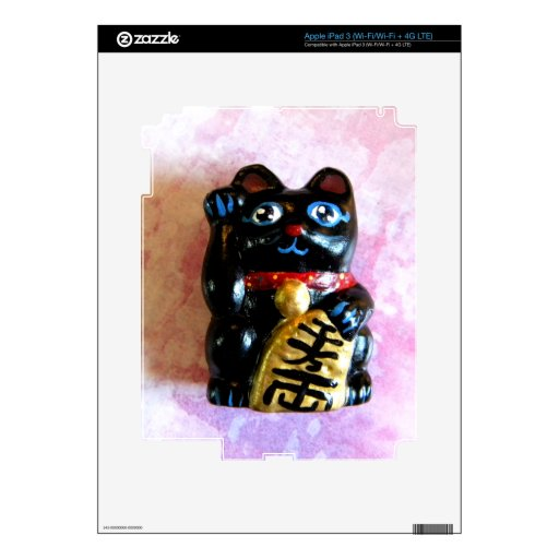 Gato afortunado pegatinas skins para iPad 3