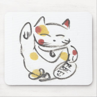 Gato afortunado rechoncho Mousepad
