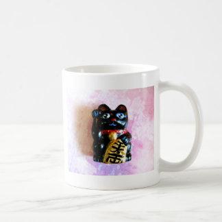 Gato afortunado taza de café