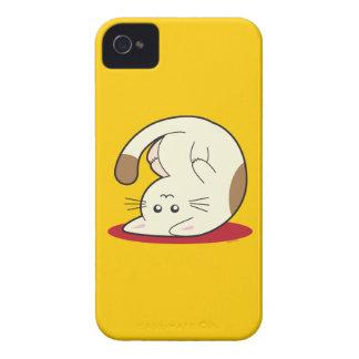 Gato al revés iPhone 4 cárcasa