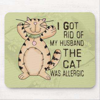 Gato alérgico alfombrilla de ratón