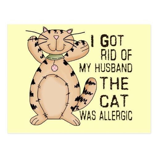 Gato alérgico tarjetas postales