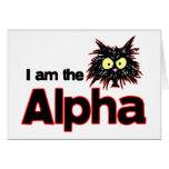 Gato alfa felicitación