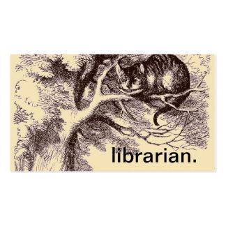 Gato Alicia del bibliotecario el | Cheshire en el Tarjetas De Visita