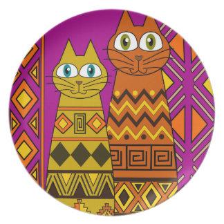 Gato, amante de los gatos platos de comidas