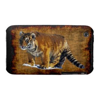 Gato-Amante grande del animal salvaje del iPhone 3 Fundas