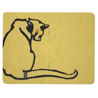 Gato amarillo del vintage cuadernos grapados