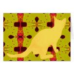 Gato amarillo felicitacion