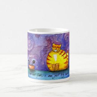 Gato amarillo gordo grande - taza