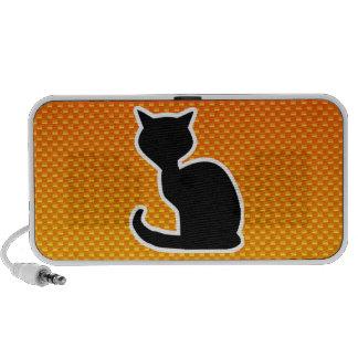 Gato amarillo-naranja altavoz de viaje