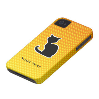 Gato amarillo-naranja iPhone 4 Case-Mate cárcasa