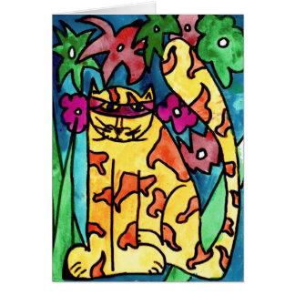 Gato amarillo • Nick Abrams, envejece 8 - tarjeta