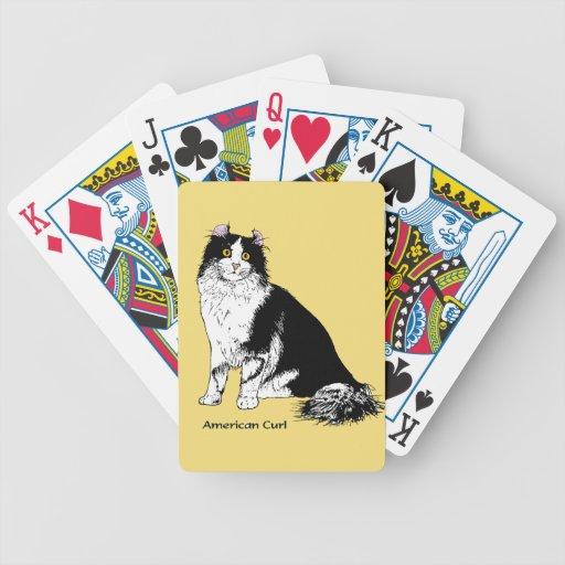 Gato americano del rizo cartas de juego