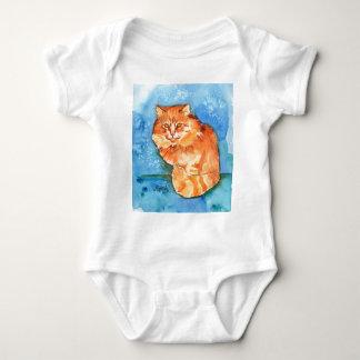 Gato anaranjado body para bebé