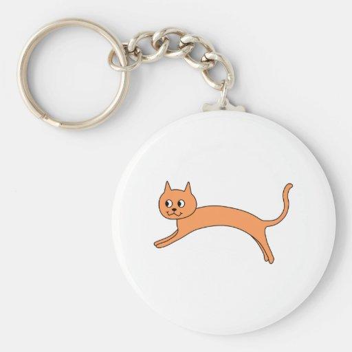 Gato anaranjado de salto llaveros personalizados
