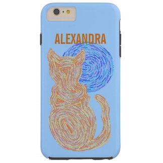 Gato anaranjado de Z y el gatito felino del amante Funda Para iPhone 6 Plus Tough
