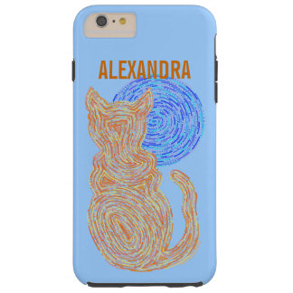 Gato anaranjado de Z y el gatito felino del amante Funda Resistente iPhone 6 Plus