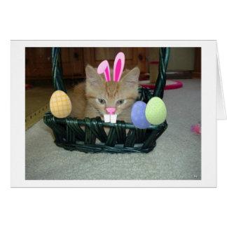 Gato anaranjado del gatito del Tabby de Pascua Tarjeta De Felicitación