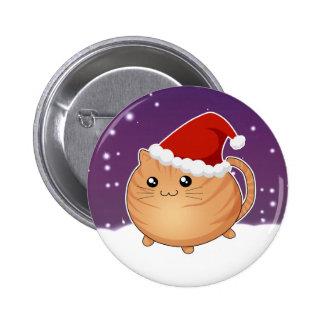 Gato anaranjado del gatito del tabby del navidad d pin
