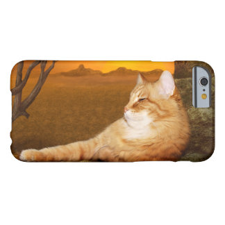 Gato anaranjado del gatito del tabby funda barely there iPhone 6