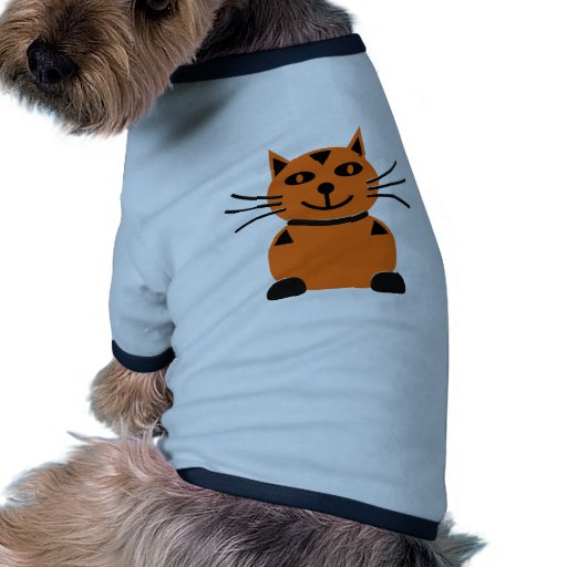Gato anaranjado feliz camisa de perrito